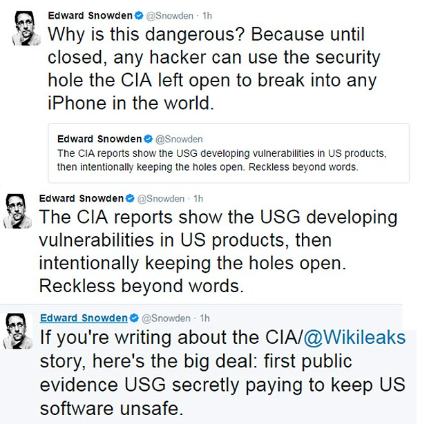 Whisteblower Edward Snowden responded to the leak, which he described as 'genuinely a big deal'