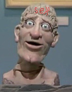Art Attack talking head had word 'sex' carved into HAIR ...
