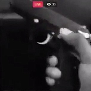 Armed: At one point Griffin-White showed off this pistol and some ammunition