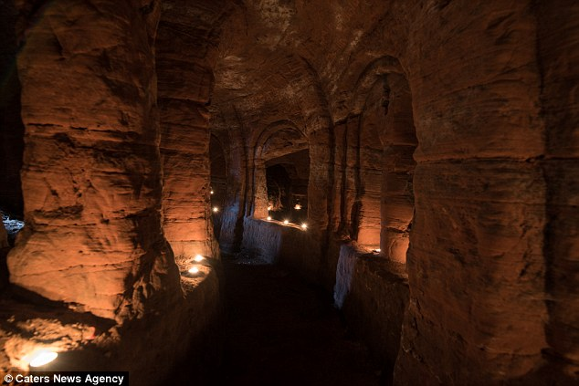 Once used as a ceremonial spot for the followers of a secretive religious sect, the underground caves offered safe haven after leaders of the free world brutally dismantled the group's power base
