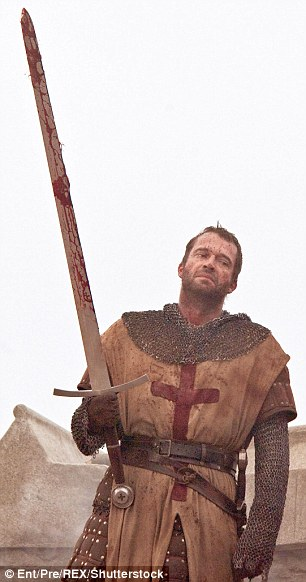 In a 700-year-old underground labyrinth of rough-hewn sandstone known as Caynton Caves, it is claimed that a persecuted rump of warrior monks, the Knights Templar, engaged in covert religious practices. Pictured is actor James Purefoy as one of the Knights in 2011 film Ironclad