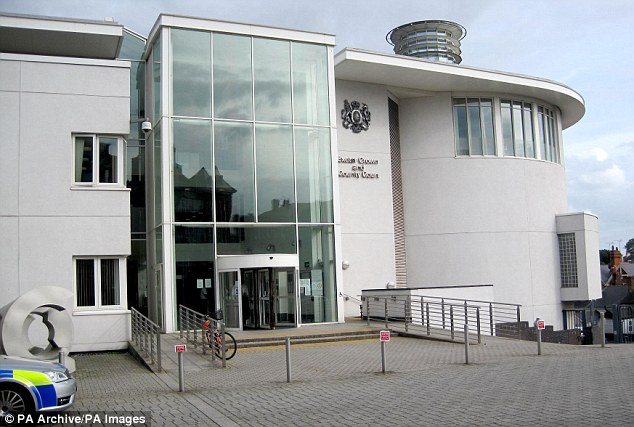 Exeter Crown Court where Vasco-Knight  Vasco-Knight sobbed as she admitted to carrying out the fraud on the second day of the trial
