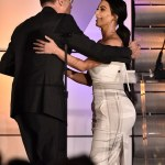 Kim Kardashian Stuns In White At Family Equality Council's Impact Awards In LA