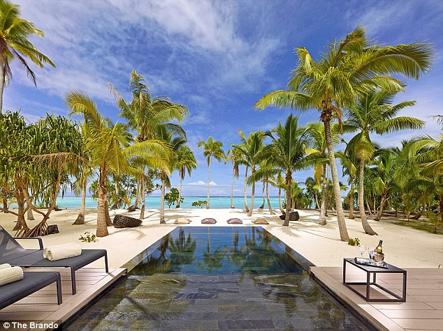 The Brando is the sole hotel on Tetiaroa, a private atoll of a dozen islets that circle a pristine lagoon 30 miles north of Tahiti