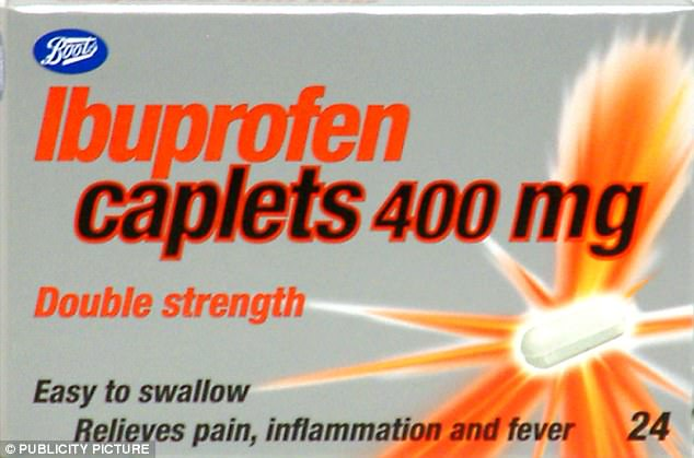 Even over-the-counter painkillers like ibuprofen (pictured) are not 'harmless' and should be used with caution, says the study