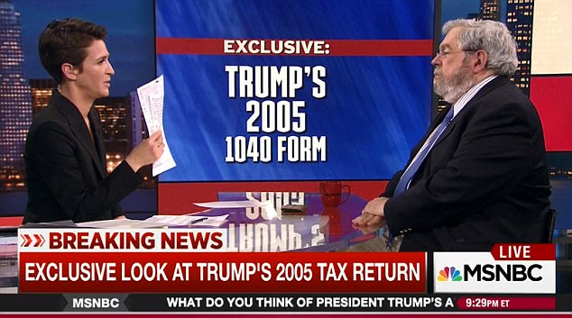 The documents show that Trump paid most of his tax through 'alternative minimum tax,' which he has said he wants to abolish, and that he used a loss registered in 1995 to lower his taxes