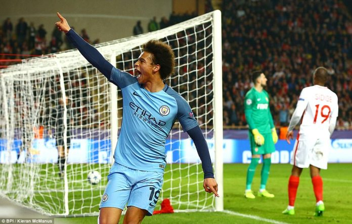 Leroy Sane looked to have taken City through with 20 minutes to play when he smashed a shot into the roof of the net