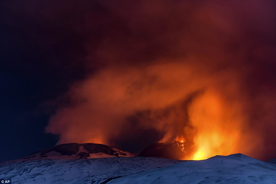 The eruption early on Thursday morning came from a relatively new crater on the southeastern side of Mount Etna