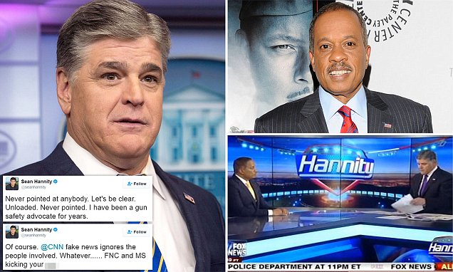Fox News' Sean Hannity 'pulled a GUN on Juan Williams'