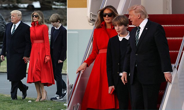 Barron Trump takes his first trip across White House lawn
