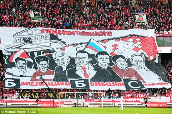 Spartak Moscow fans dismiss 'Blah Blah Channel' in banner ...