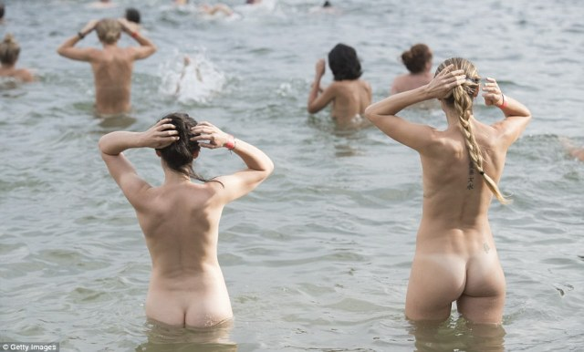 The 'naked ocean swim that's not about nudity' offers 300 or 900 metre courses and is not a race, nor is it about being seen nude, organisers say