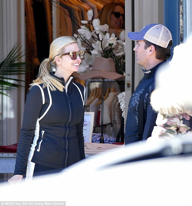 Ivanka is all smiles as she shops in Aspen with Donald Trump Junior and Vanessa Trump
