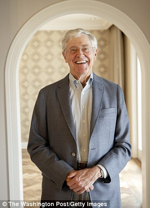 Charles Koch stands for a portrait after an interview with the Washington Post at the Freedom Partners Summit on Monday, August 3, 2015