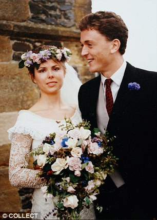 She left her husband for one of his rivals, a banker with blond hair. Pictured, Julia Stephenson on her wedding day
