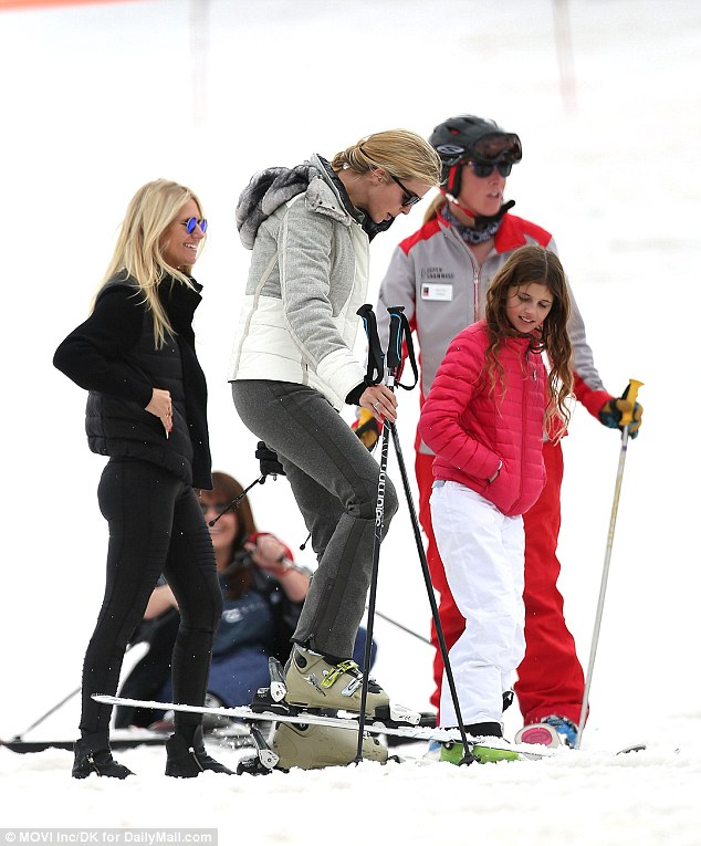 The pair then met up with another mother-daughter duo as well, with Vanessa Trump and nine-year-old daughter Kai also taking a few runs with Ivanka and Arabella