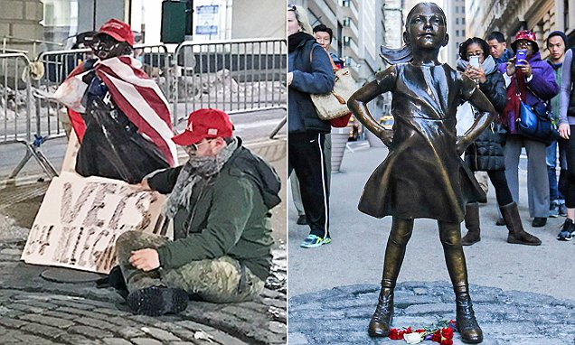 Wall Street's 'Fearless Girl' turned into Trump supporter