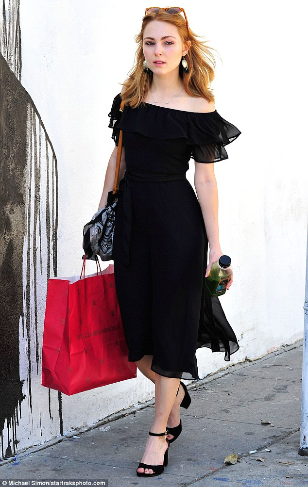 Carrie on! AnnaSophia Robb stepped out with a pink Williams-Sonoma bag and green juice on Monday in Los Angeles
