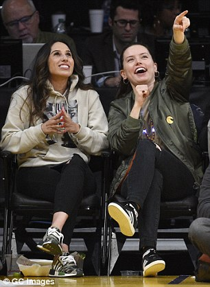 Shooting hoops! Daisy Ridley looked like she was getting to grips with the Los Angeles lifestyle as she enjoyed a Clippers Vs Lakers basketball game at the Staples Centre on Tuesday