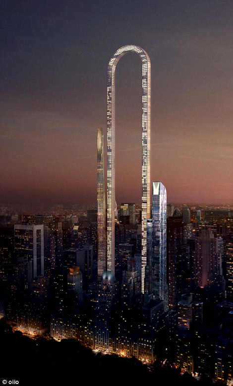 Designs for 'The Big Bend', a slender tower that would transform Manhattan's skyline have been unveiled
