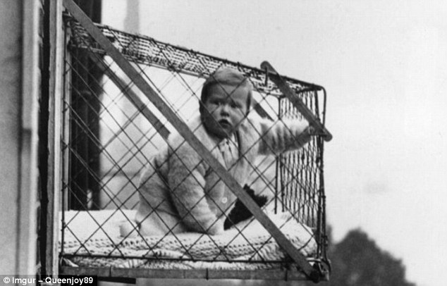 During the 1930s, New York mothers would leave their babies in cages suspended from the walls of high-rise buildings to give them a daily dose of fresh air