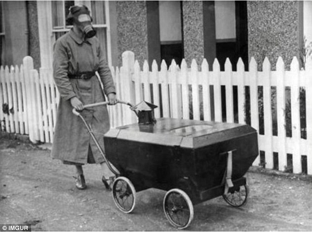 In 1938, a Kent-based company called FW Mills designed this gas-resistant pram for babies when Britain was facing the threat of war with Germany