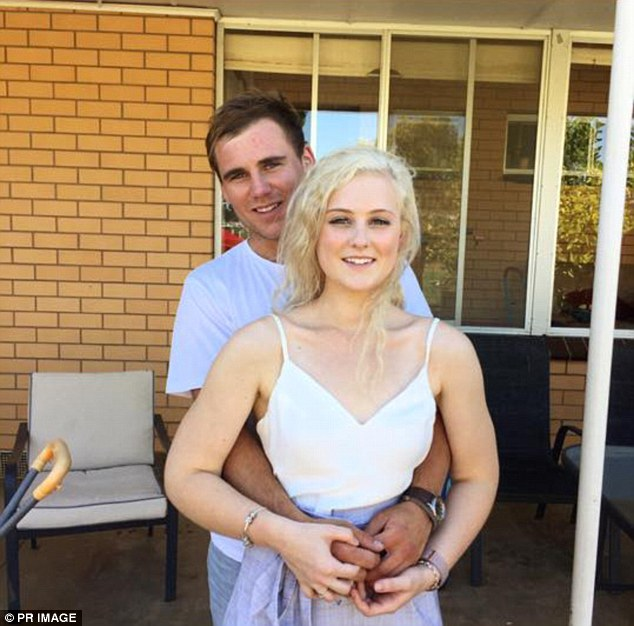 Tom Keating (behind) has pleaded guilty to negligence causing death after his jetski collided with his girlfriend Emily Collie (front) while on holiday in Phuket, Thailand