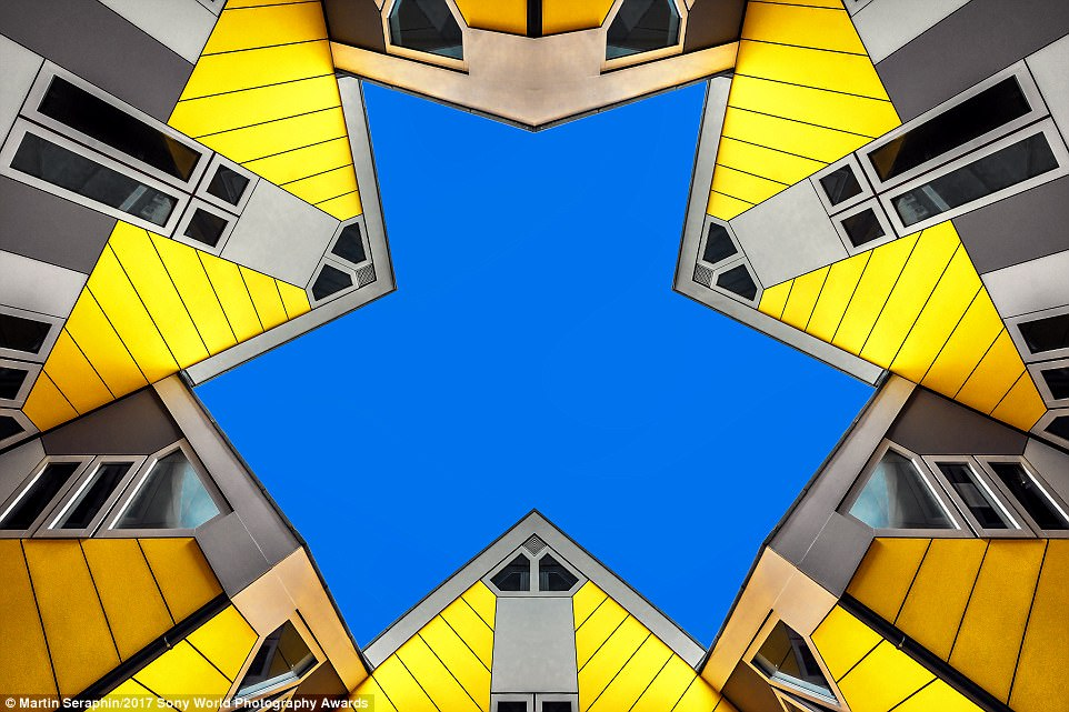 'During my visit to Rotterdam in October 2016 I saw these yellow cube houses and looked for a special perspective,' said photographer Martin Seraphin