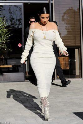 Wowza: The dress fit Kim like a glove