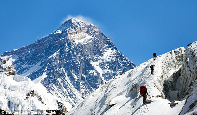 The effects of oxygen deprivation on the brain after climbing Everest were still present 11 days later when the climbers came back to Kathmandu (stock)