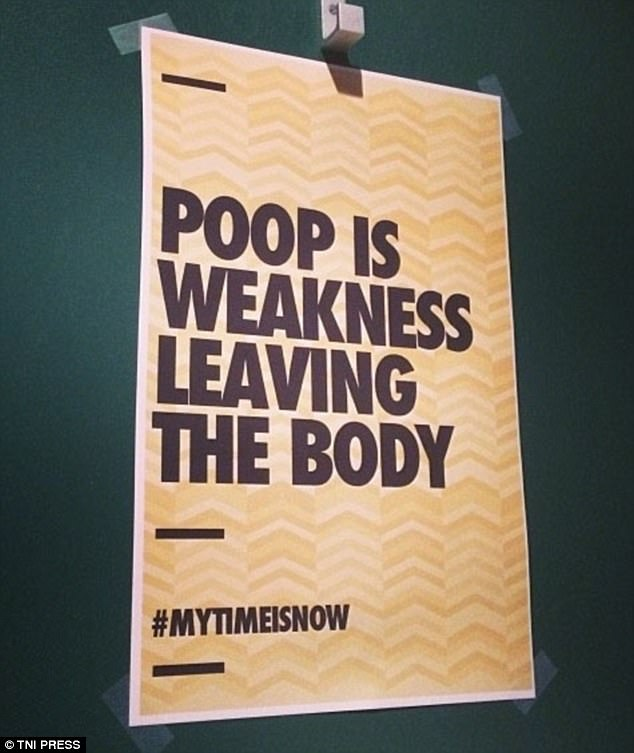In this bizarre sign the establishment provide an unusual anecdote about feces