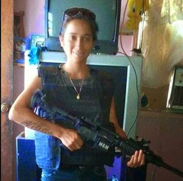 La Gladys of the Zetas cartel butchered notorious assassin Joselyn Niño (pictured), of the Gulf Cartel in 2015 - and remains at large in northern Mexico
