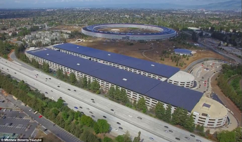 Image result for Apple's $5 billion 'Spaceship' parking space