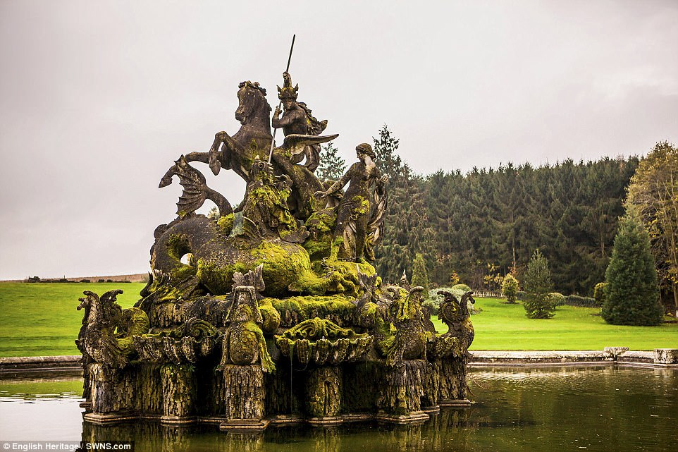 Image result for image of the perseus and andromeda fountain at Witley Court before and after pictures