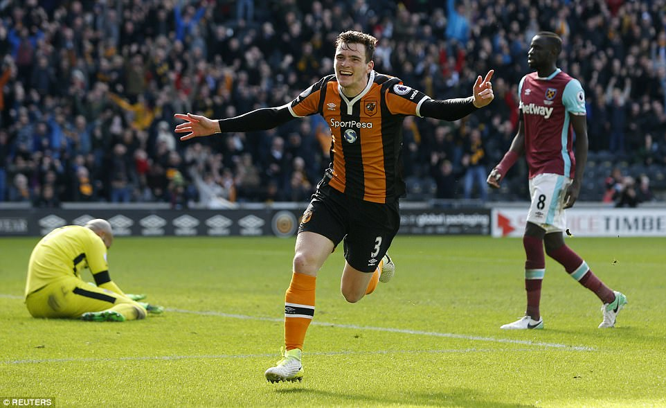 Image result for Andrew Robertson 2-1 West Ham