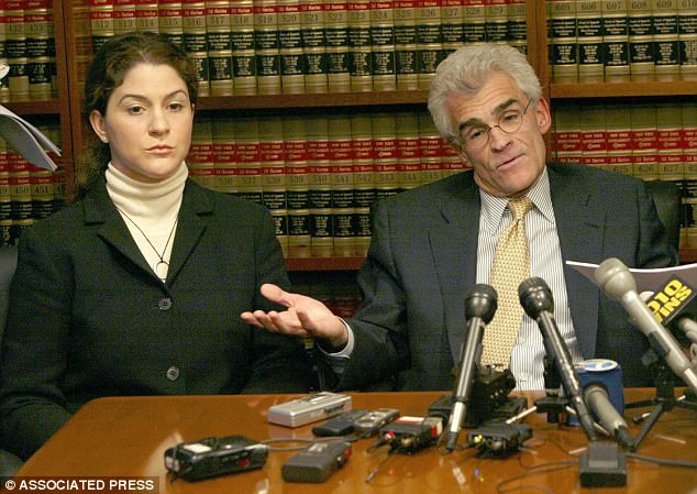 In 2004, producer Mackris (left) claimed she was sexually harassed at the hands of her direct supervisor O'Reilly. She received a $9million payout, according to the Times
