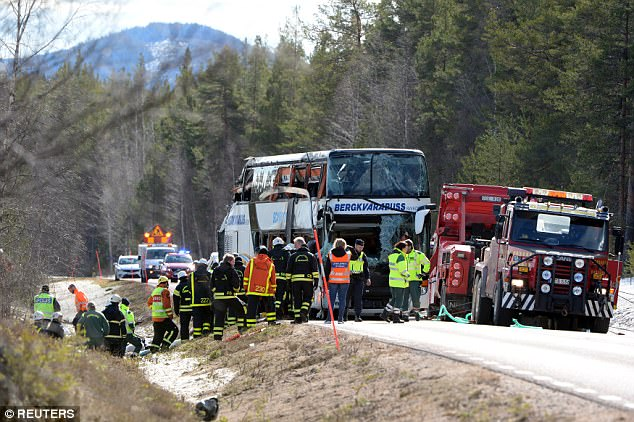 Casualties were taken to hospitals in nearby Ostersund, while others went to Mora and Falun