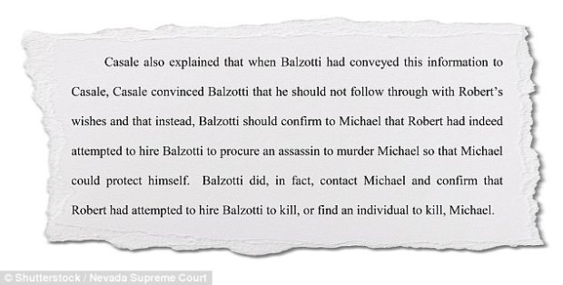 Balzotti then confided in his business partner Robert Casale about the proposition, who then reportedly convinced him not to go through with the murder