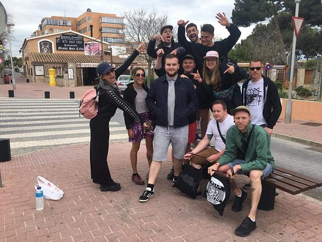 The group of friends from Bristol decided not to let their spare ticket go to waste - so found Joe McGrath and invited him along