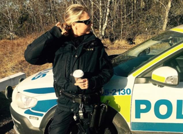 The attack happened near the suburb of Rinkeby. Responding to Mr Ahmed's post, this policewoman, known only by her first name, Jenny, said: 'I wish I was working with you yesterday'
