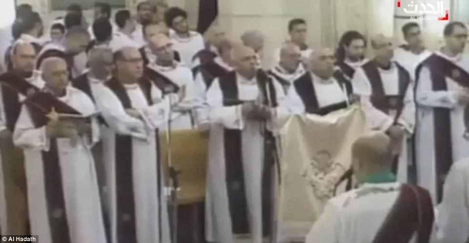 The service was being broadcast live on Egyptian television when the blast happened
