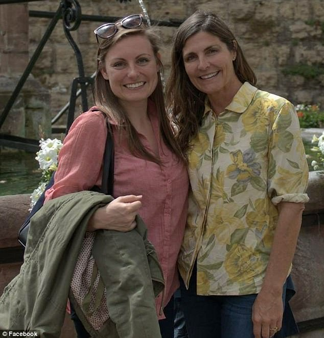She was visiting her daughter, who lives in France. McDonough is pictured on the right with her daughter. It's unclear if this was the daughter she was visiting