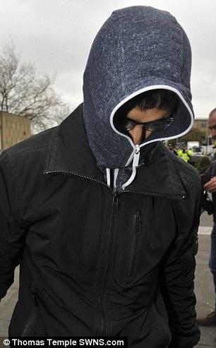 Hamhza Al Saleem leaves Kirklee's Magistrates Court in Huddersfield