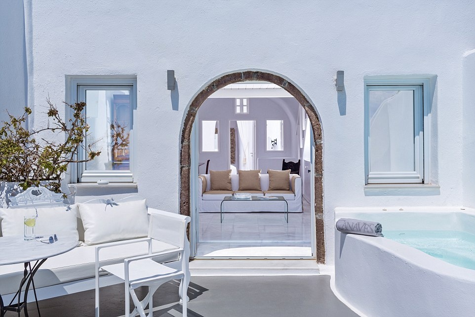 Heavenly: The hotel's villas offer guests the ultimate relaxing experience