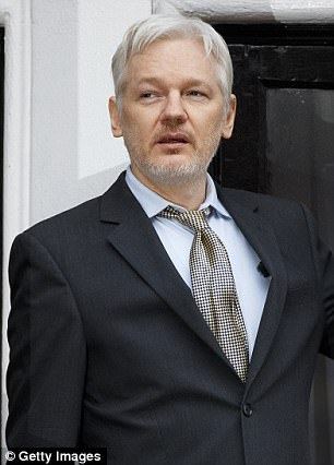 Julian Assange (pictured) released a statement on Friday that fired back at CIA Director Mike Pompeo