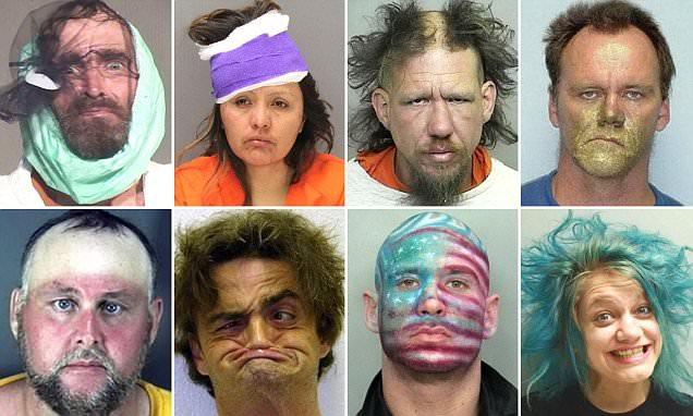 America's most bizarre mugshots ever taken