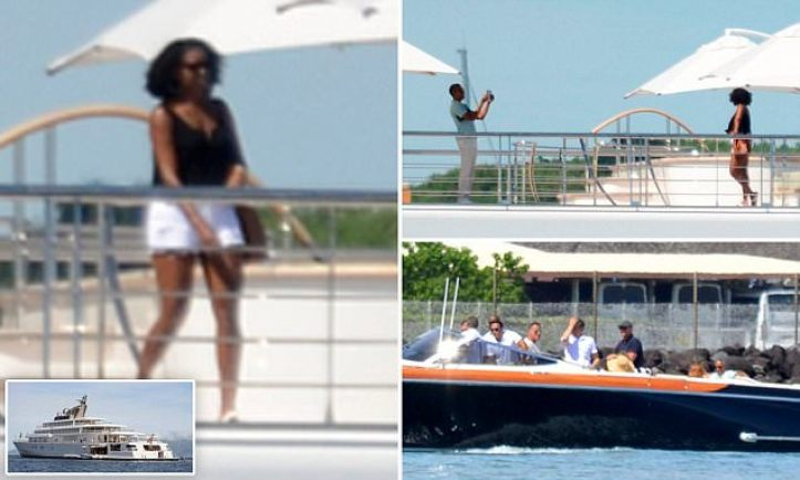 Резултат с изображение за Barack was hanging out on a $300 million dollar yacht with Oprah
