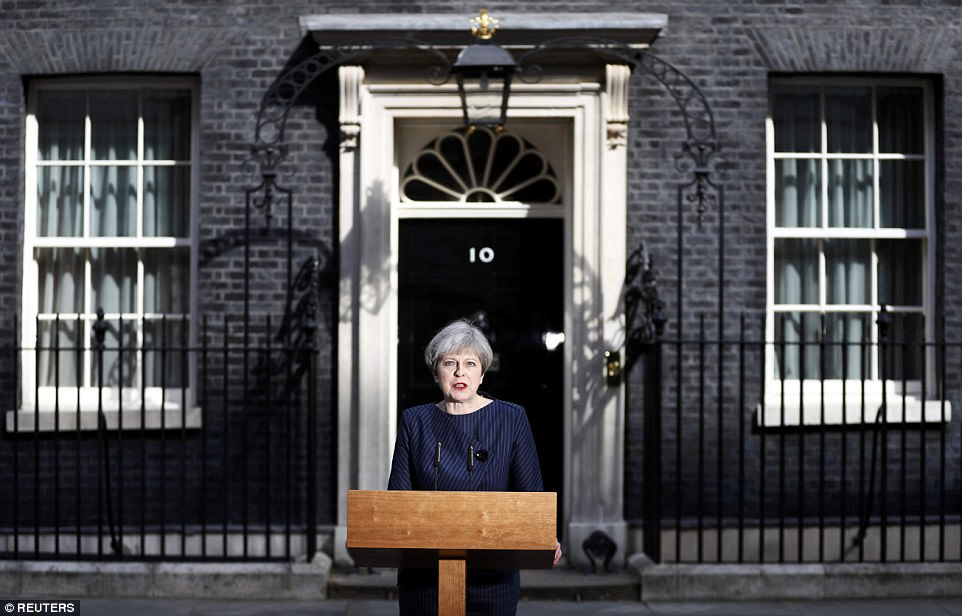 In her shock announcement, she blasted opposition parties for trying to frustrate Brexit and said she was not prepared to let them 'endanger the security of millions of working people'.