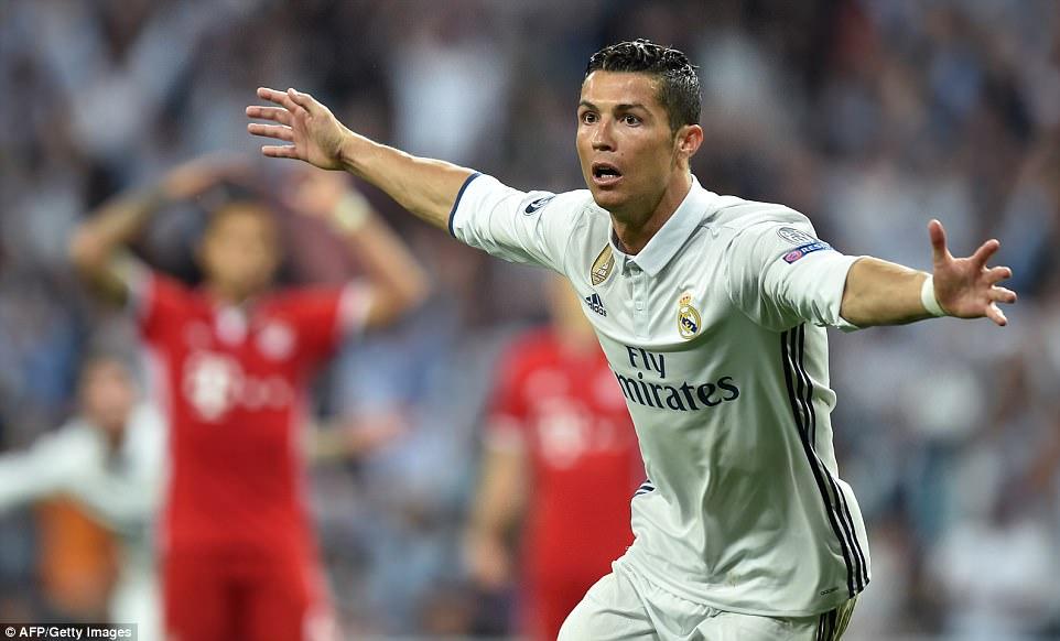 Image result for Cristiano Ronaldo 4-2 bayern munich