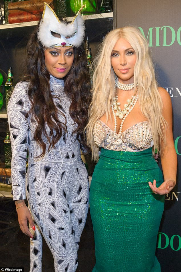 Besties: La La is an actress who has appeared several times with her close friend Kim Kardashian on Keeping Up With The Kardashians (pictured in 2012)